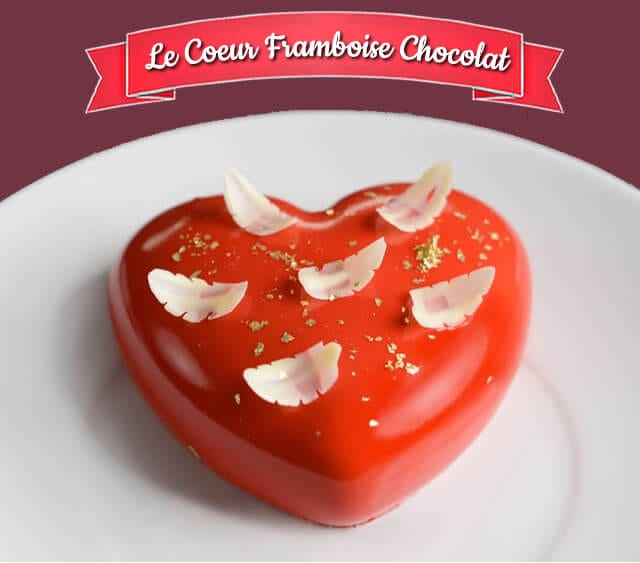 coeur framboise chocolat