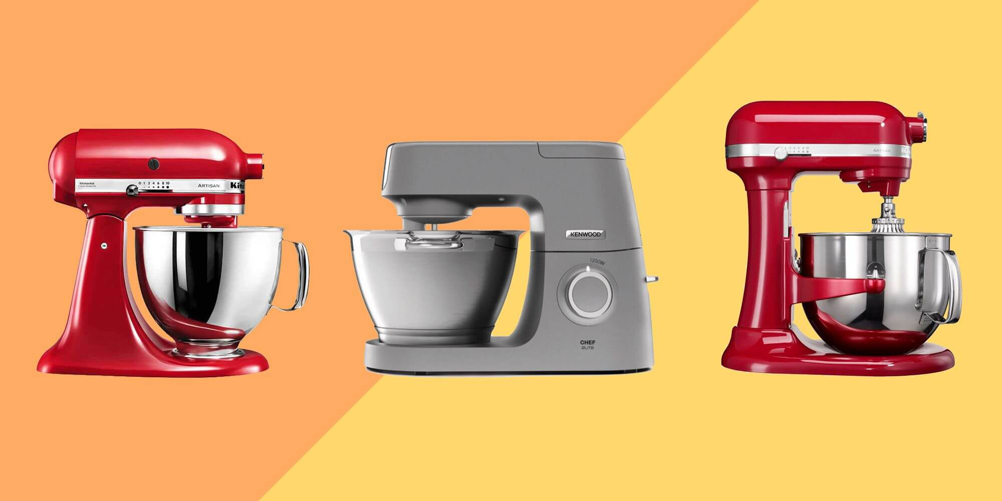comparatif kenwood vs Kitchenaid artisan ou chef titanium kitchen aid versus Kenwood