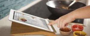tablette tactile cuisine