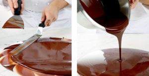 travail chocolat spatule